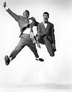 1950s Movies Photos - Jumping Jacks, Dean Martin, Jerry by Everett