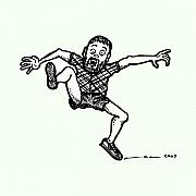 Artists Drawings Prints - Jumping Man Print by Karl Addison