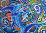 Ocean Art - Jumping Marlin by Paintings by Gretzky