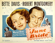 Montgomery Prints - June Bride, Bette Davis, Robert Print by Everett