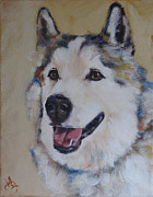 Custom Pet Paintings - Juneau by Julie Dalton Gourgues