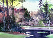 Nature Scene Paintings - Jungle 1 by Anil Nene