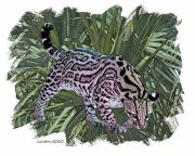 Digital Photo Art Posters - Jungle Cat 2 Poster by Larry Linton