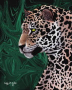 Mayan Paintings - Jungle Cat by Courtney Britton