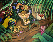Childrens Art Drawings - Jungle Fever by Juliana Dube