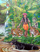 Indian Maiden Paintings - Jungle Maiden by Rafael Cruzpagan
