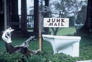 Abstract Realist Landscape Art - Junk Mail by The Signs of the Times Collection