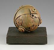 Wood Sculptures - Junkyard Dog Ball by Jacques Vesery