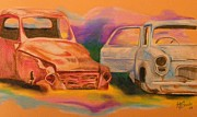 Rusty Drawings - Junkyard friends by Tersia Brooks