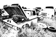 Pickup Truck Door Posters - Junkyard Infrared 2 Poster by Matthew Angelo