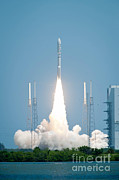 Nasa Space Program Framed Prints - Juno Spacecraft Lifts Off Framed Print by NASA/Science Source