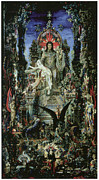 Moreau Paintings - Jupiter and Semele by Gustave Moreau