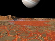 Volcanism Photos - Jupiter From Io, Artwork by Walter Myers