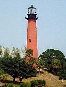 Lighthouse Photographs By Frederic Kohli - Jupiter Inlet Lighthouse by Frederic Kohli