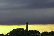 Lighthouse At Sunset Prints - Jupiter Lighthouse at Sunset Print by Robert Valentine