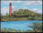 Edward Williams Prints - Jupiter Lighthouse Print by Edward Williams