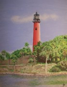Reynolds Paintings - Jupiter Lighthouse Florida by Wayne Vander Jagt