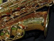 Jazz Band Art - Jupiter Saxophone by Michelle Calkins