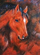 Horse Stable Mixed Media Posters - Jupiter Stallion  Poster by Zbigniew Rusin