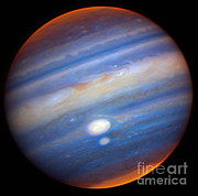 Planetary Science Photos - Jupiters Red Spots by Gemini Observatory / NSF