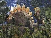 Stegosaurus Prints - Jurassic Dinosaurs, Artwork Print by Walter Myers