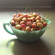 Still Life Art - Just A Bowl Of Cherries by Kim Still