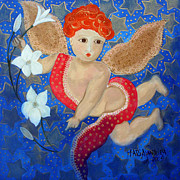 Just A Little Cherubim Print by Maria Matheus Maria Santeira