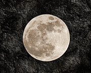Space Mixed Media - Just A Little Ole Super Moon by Andee Photography