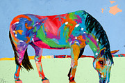 Horses In Art Prints - Just a Nibble Print by Tracy Miller
