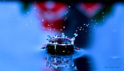 Water Drops Photographs Posters - Just A Splash In Time  Poster by Christopher  Ward
