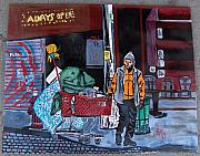 Homeless Painting Posters - Just Another Day Poster by Jeffrey Foti