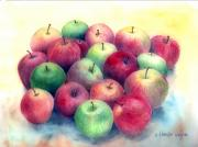 Apple Framed Prints - Just Apples Framed Print by Arline Wagner