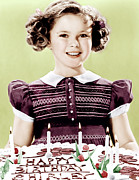 Candid Portraits Prints - Just Around The Corner, Shirley Temple Print by Everett