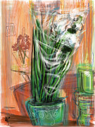 Stems Mixed Media - Just Arrived by Russell Pierce