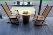Rocking Chairs Photos - Just Checkers by Carl Purcell