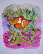 Clown Fish Mixed Media - Just Clowing Around by Joy Braverman