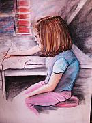 Jordan Drawing Pastels Posters - Just Draw Me Poster by Scott Easom