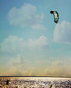 Kiteboarding Art - Just Enough Wind by Lana Trussell