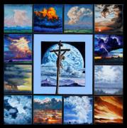 Clouds Sunset Painting Prints - Just for Love Print by John Lautermilch