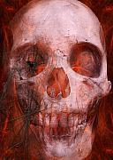 Halloween Metal Prints - Just Grining Metal Print by Jean Gugliuzza