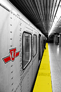 Yellow Line Photo Prints - Just in Time Print by Valentino Visentini