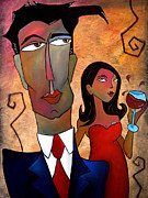 Wine Canvas Paintings - Just Noticed by Tom Fedro - Fidostudio