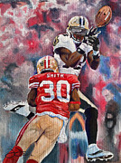 49ers Painting Prints - Just out of reach Print by Donovan Furin