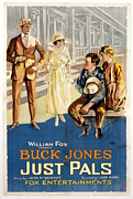 Pals Framed Prints - Just Pals, Buck Jones, 1920 Framed Print by Everett