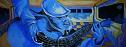 Bar Scene Paintings - Just Playing The Blues by Dana Gumms