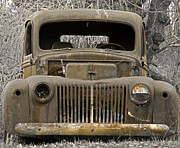 Car Window Framed Prints - Just Rusting Framed Print by John Stephens