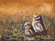 Burrowing Painting Framed Prints - Just Sayin..... Framed Print by J P Childress
