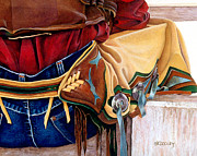 Chaps Paintings - Just Sittin Around by JK Dooley