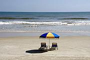 Beach Chairs Prints - Just the two of us Print by David Lee Thompson