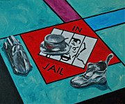 Monopoly Paintings - Just Visiting  by Herschel Fall
